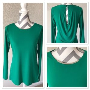 Michael Kors Green Blouse w/Silver Accent